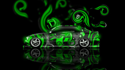 Toyota-Altezza-JDM-Effects-Green-Abstract-Car-2014-HD-Wallpapers-design-by-Tony-Kokhan-[www.el-tony.com]