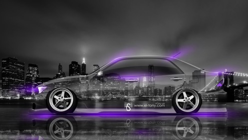 Toyota-Altezza-JDM-Side-Crystal-City-Car-2014-Violet-Neon-design-by-Tony-Kokhan-[www.el-tony.com]