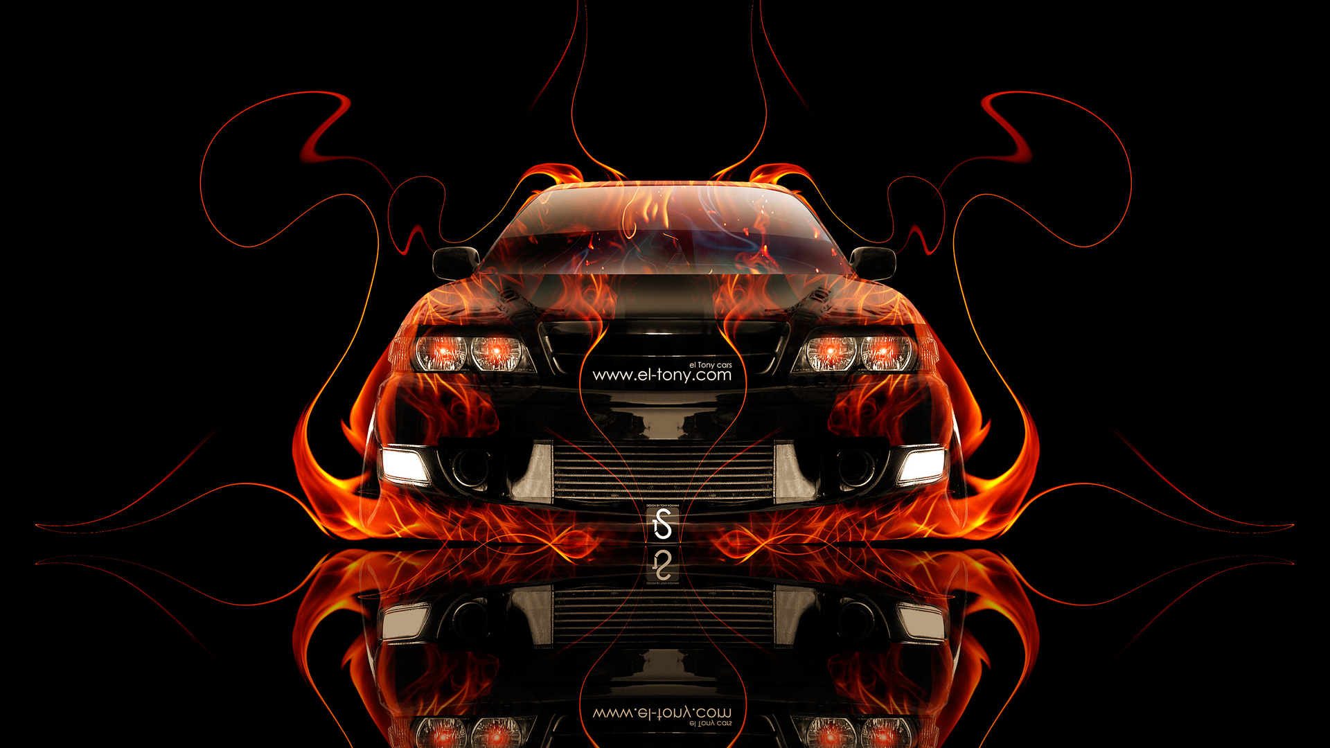 Toyota Chaser JZX100 JDM Front Fire Car 2014