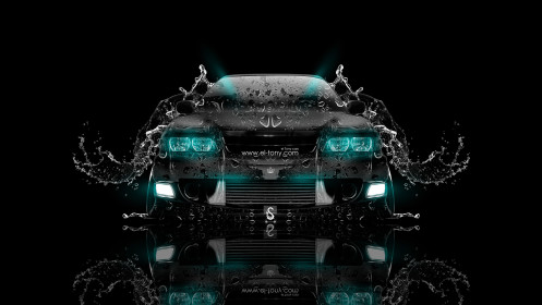 Toyota-Chaser-JZX100-JDM-Front-Water-Car-2014-Azure-Neon-design-by-Tony-Kokhan-[www.el-tony.com]
