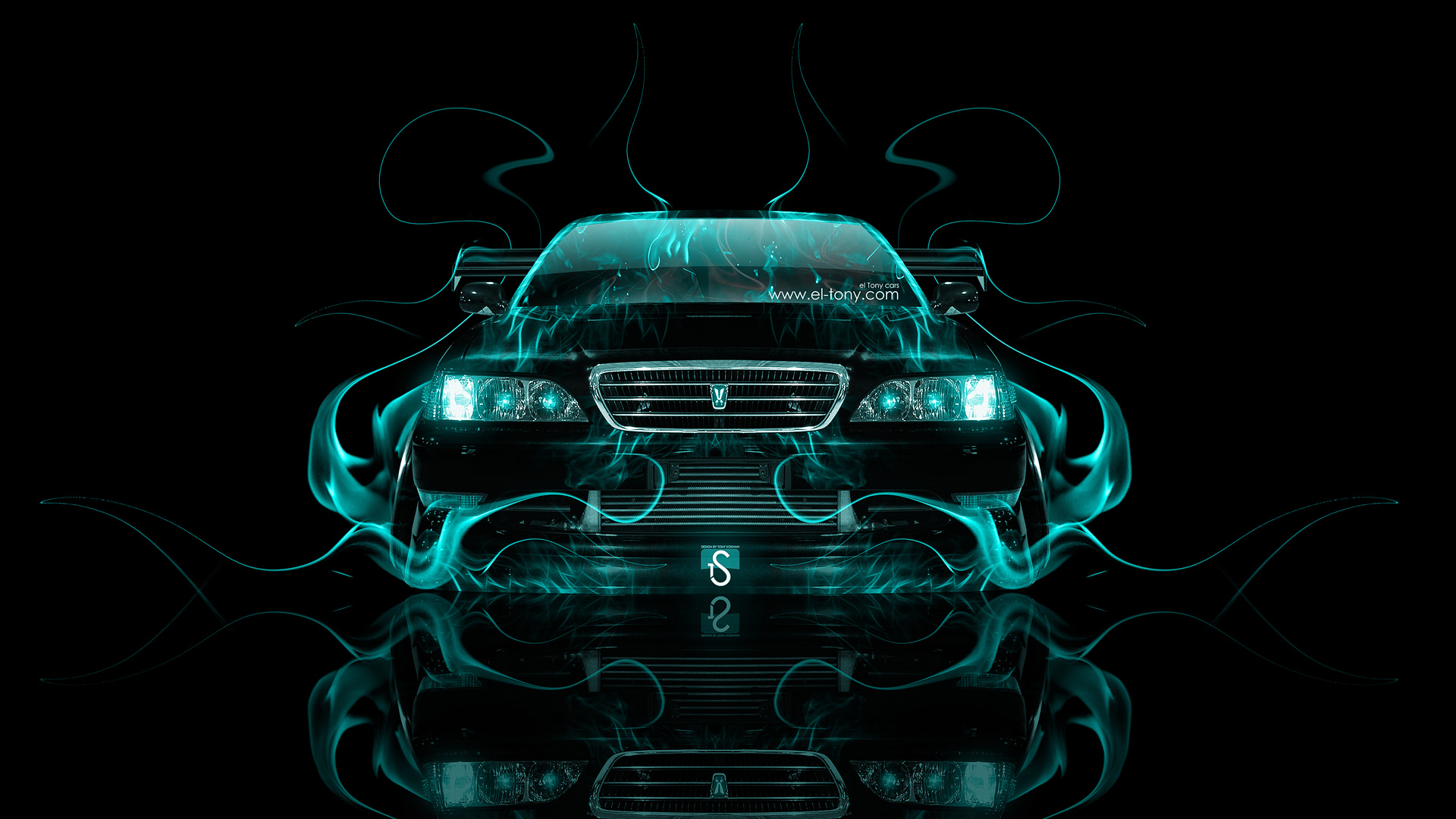 Exceptionnel Toyota Cresta JZX100 JDM Tuning Front Azure Fire  ...