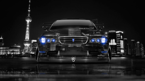 Toyota-Cresta-JZX100-JDM-Tuning-Front-Crystal-City-Car-2014-Blue-Neon-design-by-Tony-Kokhan-[www.el-tony.com]