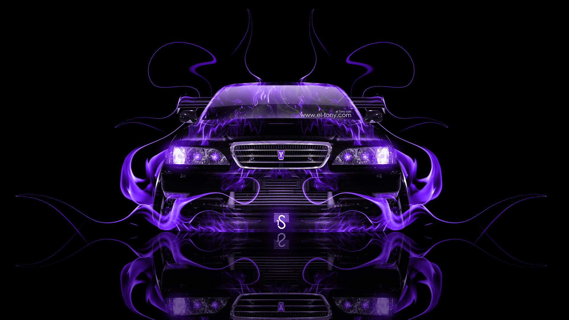 ... Toyota Cresta JZX100 JDM Tuning Front Violet Fire
