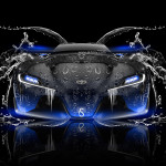 Toyota FT-1 Tuning Front Water Car 2014