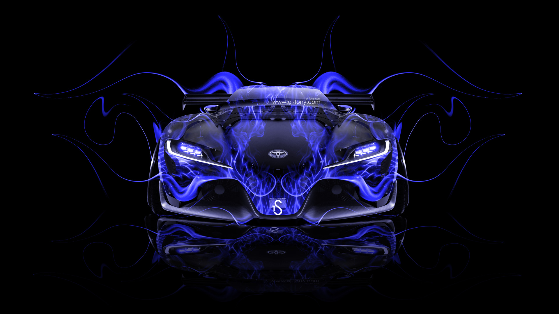 Toyota FT Tuning Front Fire Car El Tony - Cool cars on fire