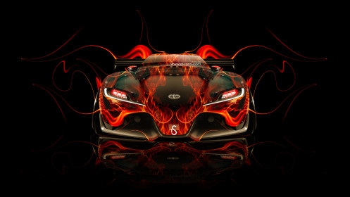 Toyota-FT-1-Tuning-Front-Fire-Car-2014-HD-Wallpapers-design-by-Tony-Kokhan-[www.el-tony.com]