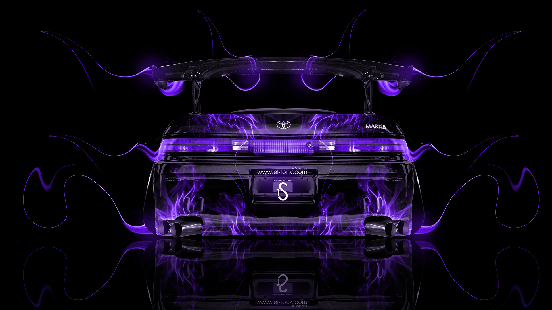 Toyota Mark2 JZX90 JDM Back Tuning Violet Fire