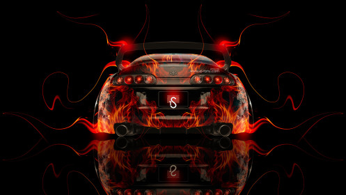 Toyota-Supra-JDM-Back-Fire-Car-2014-HD-Wallpapers-design-by-Tony-Kokhan-[www.el-tony.com]