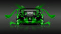 Toyota-Supra-JDM-Back-Green-Plastic-Car-2014-HD-Wallpapers-design-by-Tony-Kokhan-[www.el-tony.com]