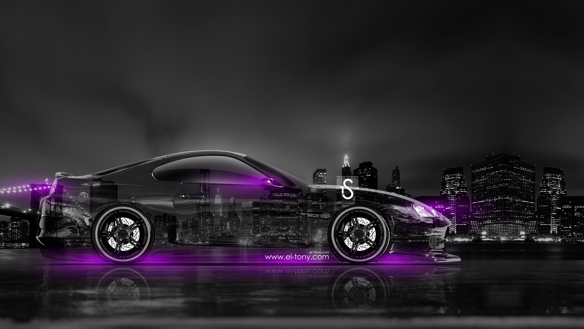 Gentil Toyota Supra JDM Side Crystal City Car 2014