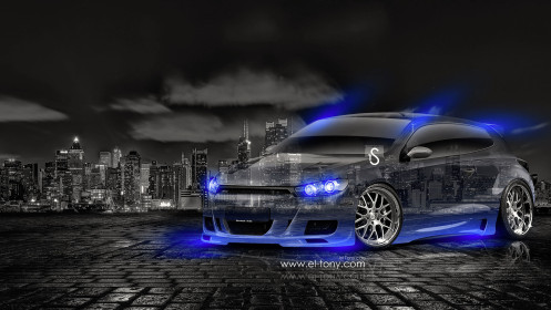 Volkswagen-Scirocco-RS-Crystal-City-Car-2014-Blue-Neon-design-by-Tony-Kokhan-[www.el-tony.com]