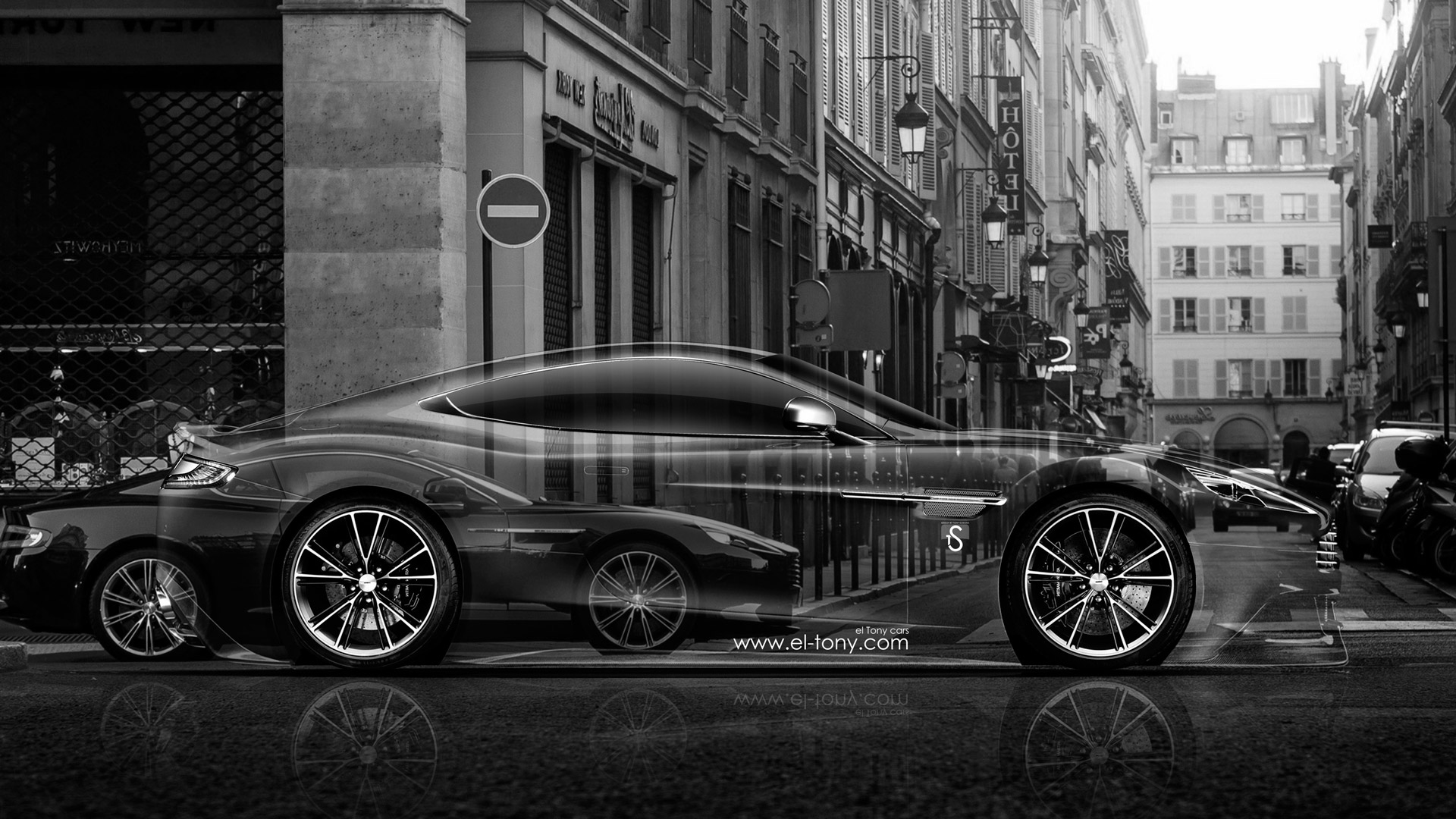 Aston Martin Vanquish Side Crystal City Car 2014