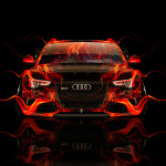 Audi RS5 Tuning Front Fire Car 2014
