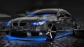 BMW-E92-M3-Crystal-City-Car-2014-Blue-Neon-HD-Wallpapers-design-by-Tony-Kokhan-[www.el-tony.com]