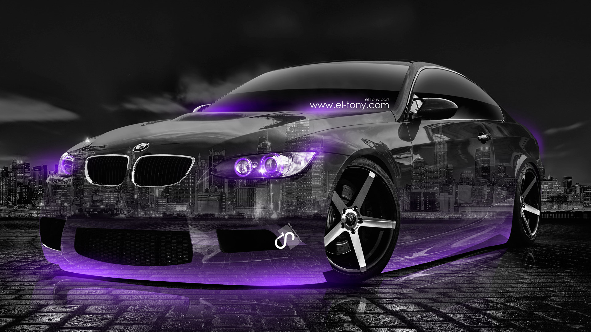 BMW E92 M3 Crystal City Car 2014 Violet