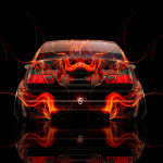 BMW M3 Back Fire Abstract Car 2014