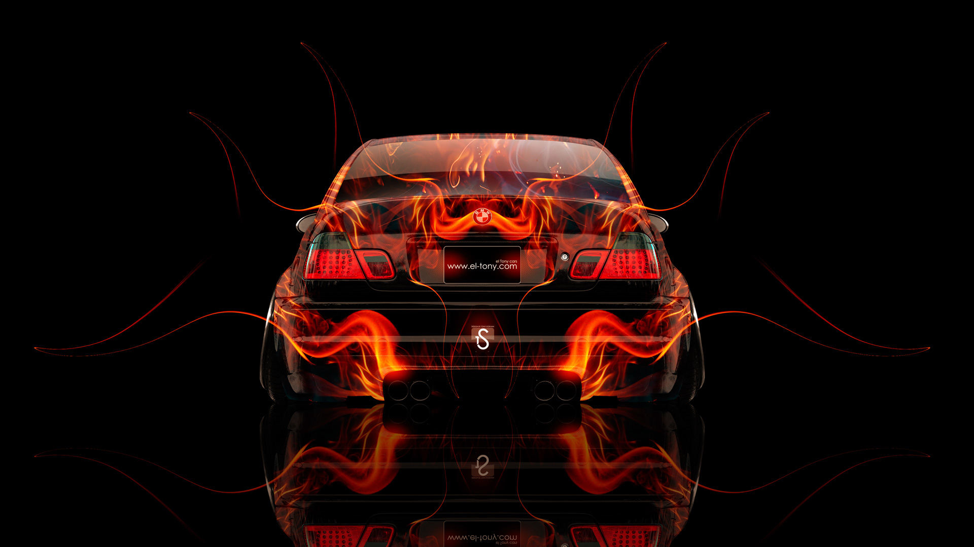 BMW M3 Back Fire Abstract Car 2014 HD