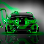 BMW M3 Back Plastic Neon Car 2014
