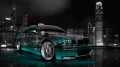 BMW-M3-Front-Side-Viiew-Crystal-City-Car-2014-Azure-Neon-HD-Wallpapers-design-by-Tony-Kokhan-[www.el-tony.com]