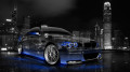 BMW-M3-Front-Side-Viiew-Crystal-City-Car-2014-Blue-Neon-HD-Wallpapers-design-by-Tony-Kokhan-[www.el-tony.com]