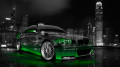 BMW-M3-Front-Side-Viiew-Crystal-City-Car-2014-Green-Neon-HD-Wallpapers-design-by-Tony-Kokhan-[www.el-tony.com]