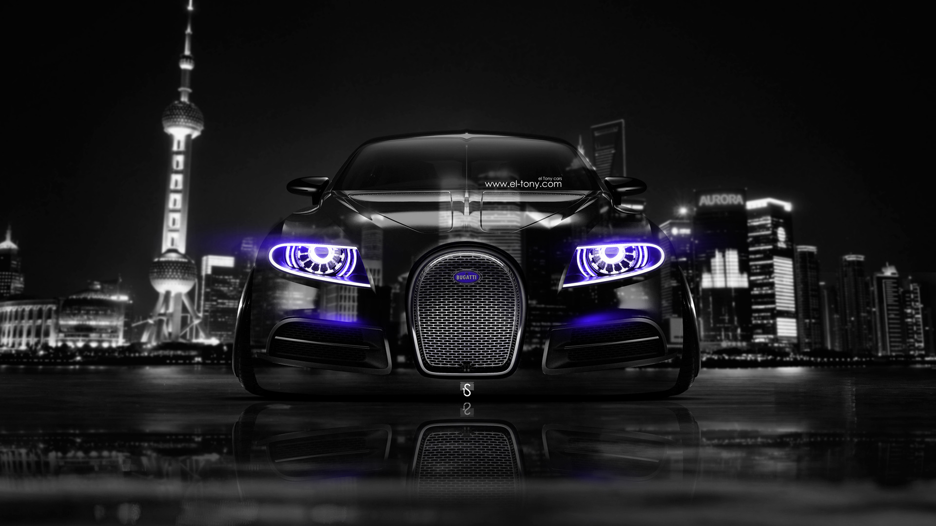 ... Bugatti 16C Galibier Front Crystal City Car 2014