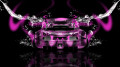 Bugatti-Veyron-Back-Water-Kiwi-Car-2014-Pink-Neon-HD-Wallpapers-design-by-Tony-Kokhan-[www.el-tony.com]