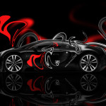 Bugatti Veyron Side Plastic Car 2014