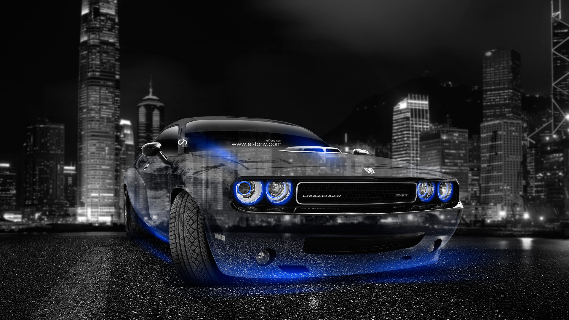 Superb Dodge Challenger Muscle Crystal City Car 2014 Blue  Photo Gallery