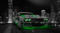 Dodge-Challenger-Muscle-Crystal-City-Car-2014-Green-Neon-HD-Wallpapers-design-by-Tony-Kokhan-[www.el-tony.com]