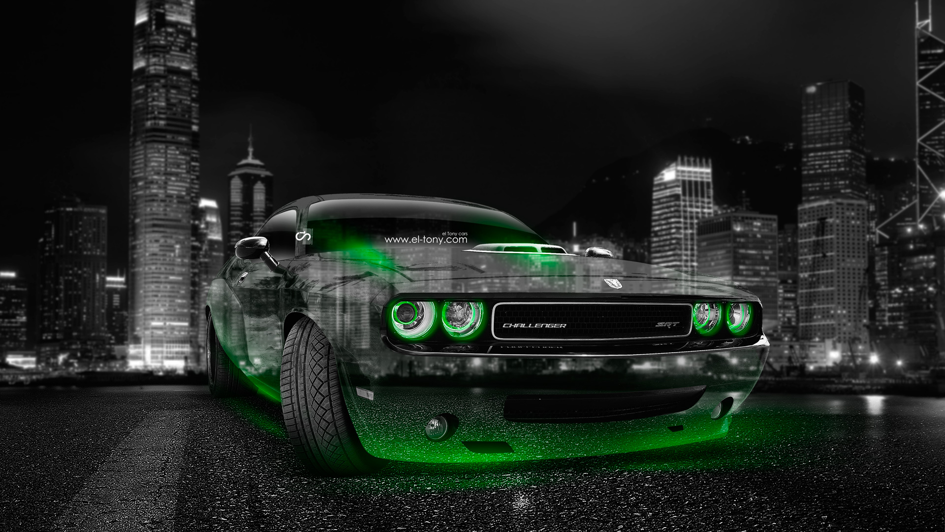 Superieur Dodge Challenger Muscle Crystal City Car 2014 Green .
