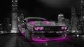 Dodge-Challenger-Muscle-Crystal-City-Car-2014-Pink-Neon-HD-Wallpapers-design-by-Tony-Kokhan-[www.el-tony.com]