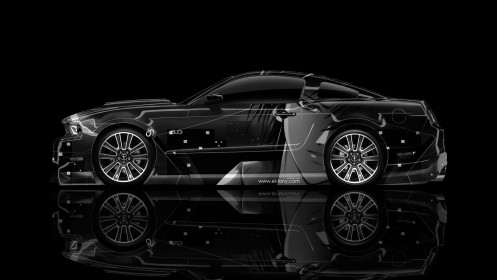 Ford-Mustang-GT-Muscle-Side-Anime-Aerography-Car-2014-Art-HD-Wallpapers-by-Tony-Kokhan-[www.el-tony.com]