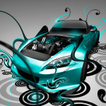 Honda S2000 Super Plastic Neon Car 2014