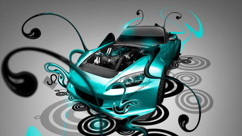 Honda-S2000-Engine-Open-Super-Plastic-Azure-Neon-Car-2014-design-by-Tony-Kokhan-[www.el-tony.com]