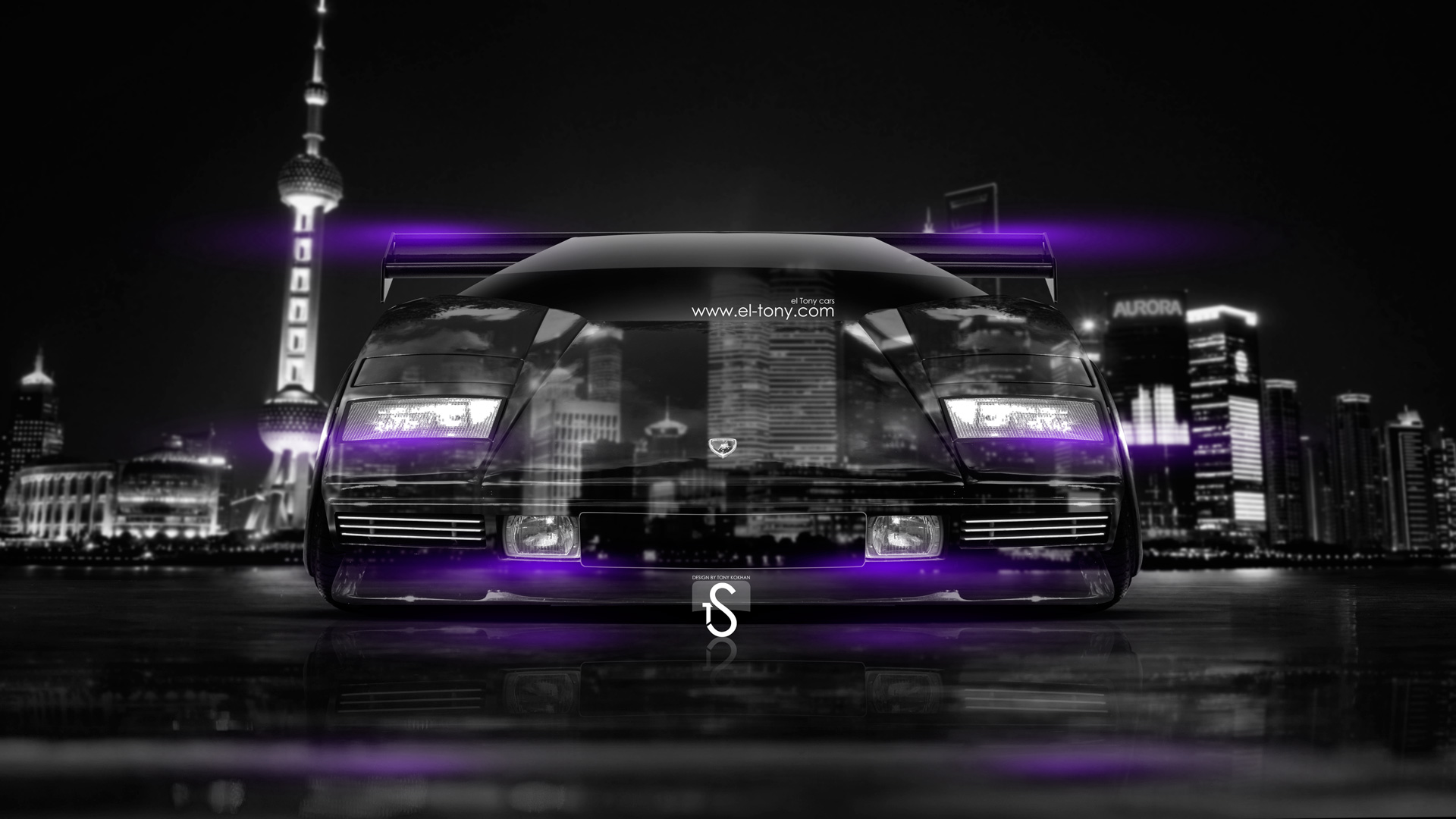 Lamborghini-Countach-Tuning-Crystal-City-Car-2014-Violet-Neon-design-by-Tony-Kokhan-[www.el-tony.com]