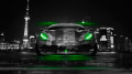 Lamborghini-Murcielago-Tuning-Front-Crystal-City-Car-2014-Green-Neon-HD-Wallpapers-design-by-Tony-Kokhan-[www.el-tony.com]