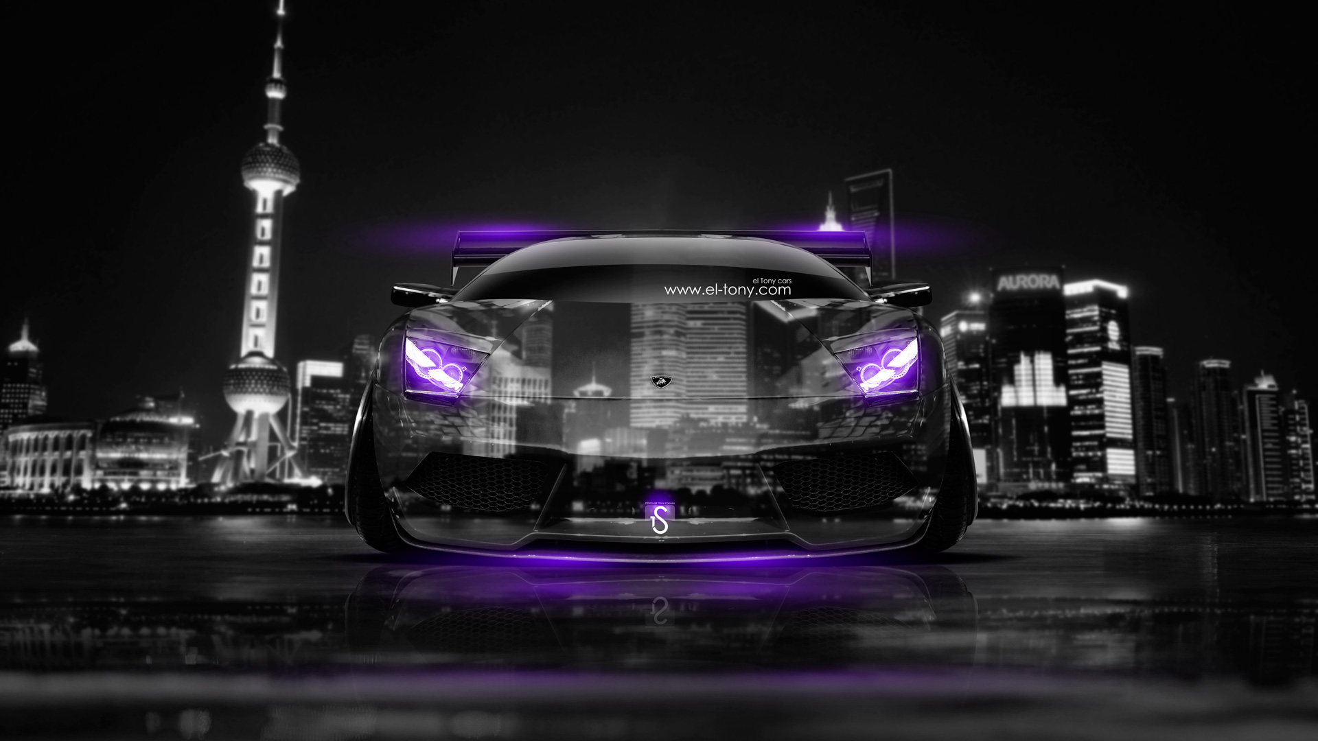 Captivating Lamborghini Murcielago Tuning Front Crystal City Car 2014