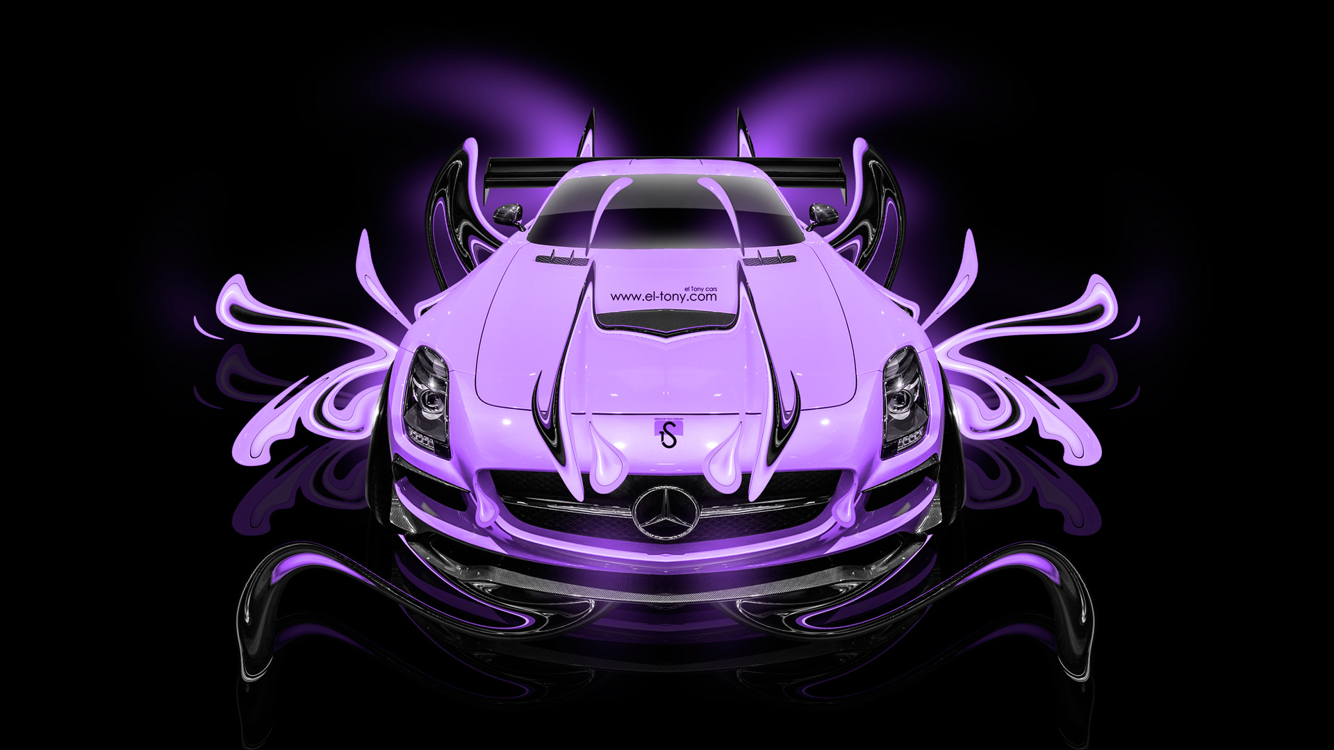 Mercedes Benz SLS AMG Fantasy Super Plastic Car 2014 | El Tony