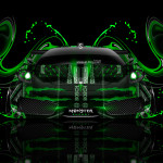 Monster Energy Ferrari F430 Front Plastic Car 2014