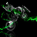 Monster Energy Kawasaki Z1000 Fantasy Plastic Bike 2014