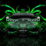 Monster Energy Lamborghini Huracan Tuning Plastic Car 2014