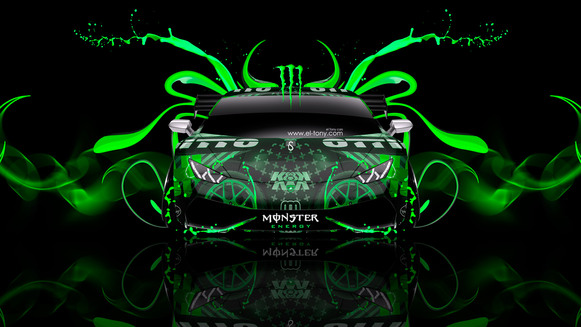 Charming ... Monster Energy Lamborghini Huracan Tuning Plastic Car 2014