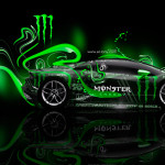 Monster Energy Lamborghini Huracan Side Plastic Car 2014