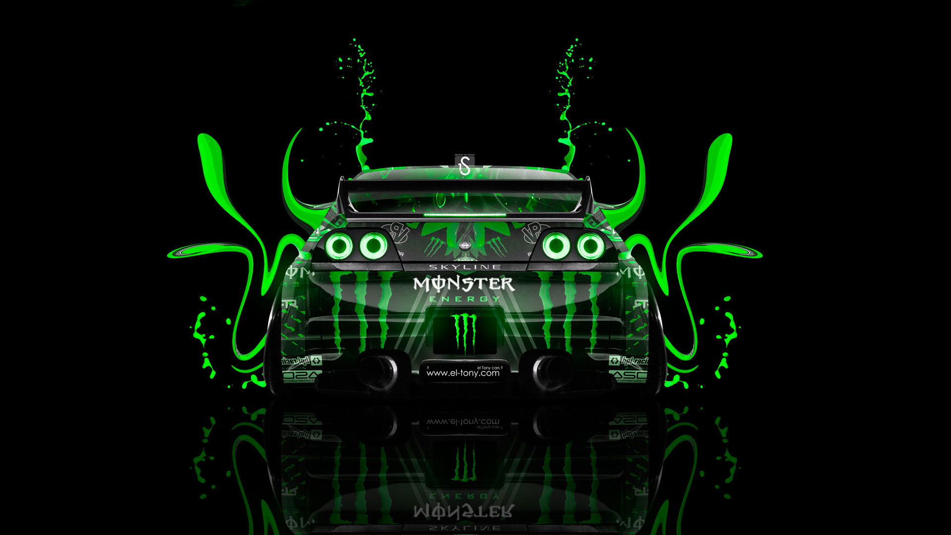 Monster Energy Nissan Skyline GTR R33 Back Plastic
