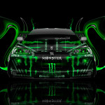Monster Energy Nissan Skyline GTR R34 Front Plastic Car 2014