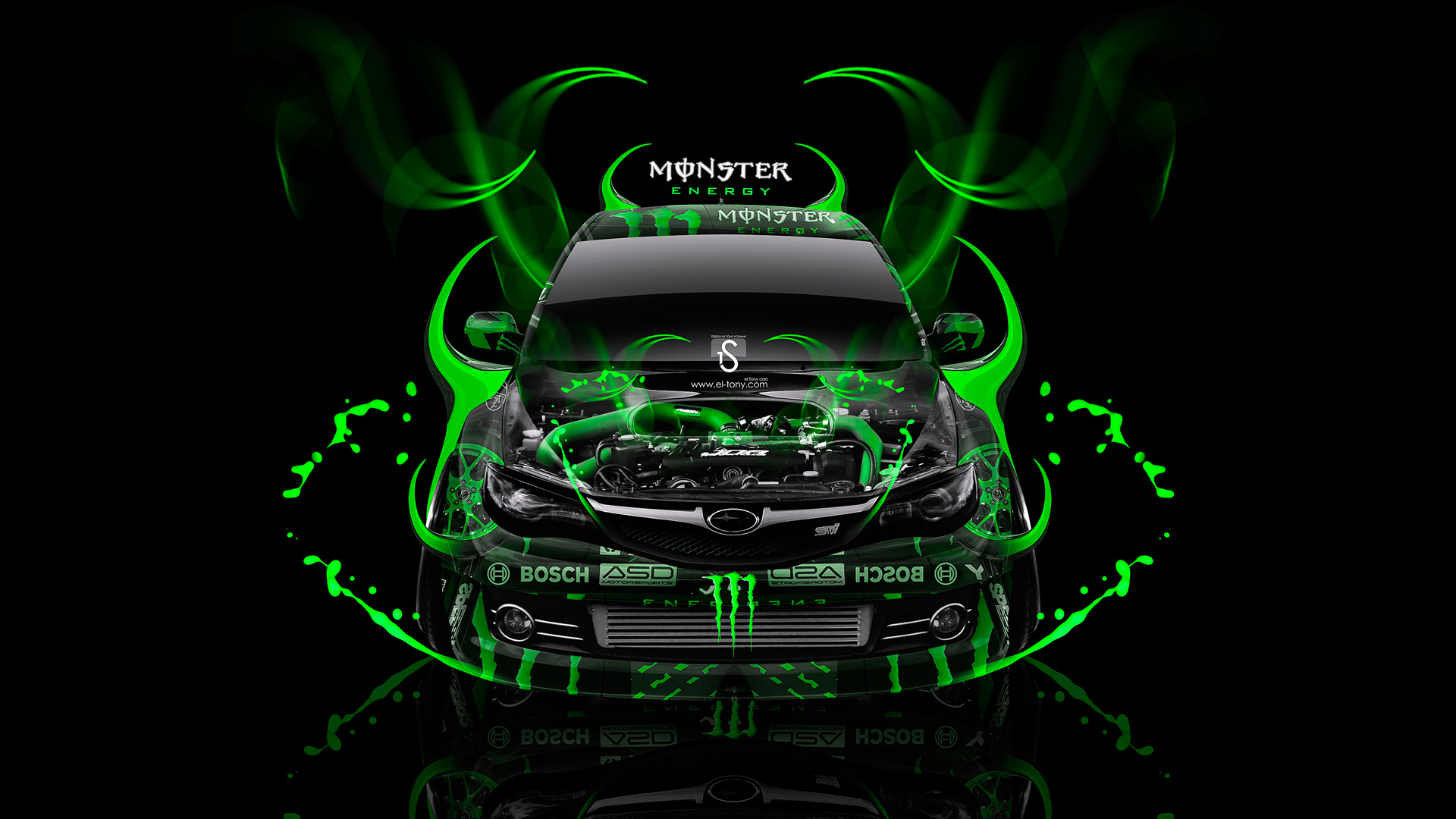 Marvelous Monster Energy Subaru Impreza WRX STI Fantasy Plastic