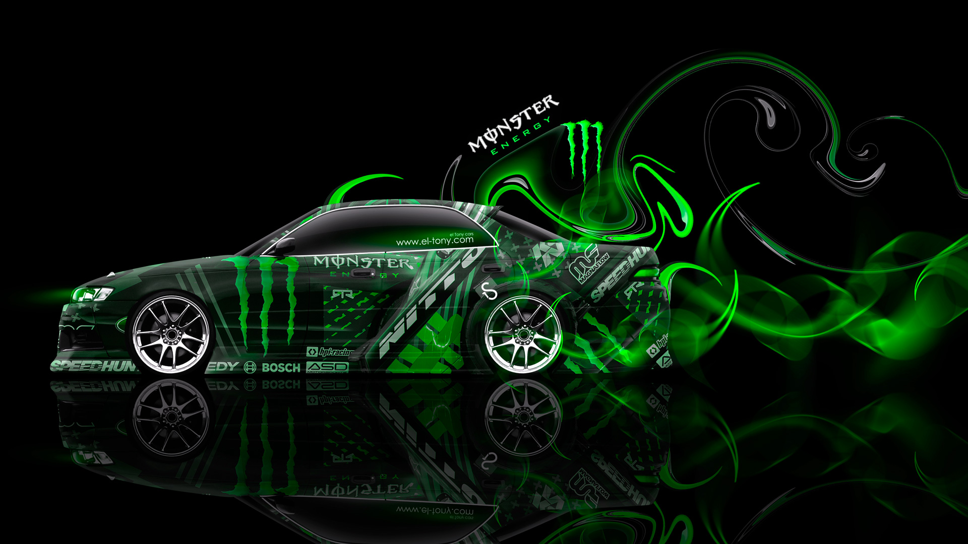 Monster Energy Toyota Plastic Drift Car El Tony