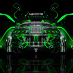 Monster Energy Toyota Supra JDM Back Plastic Car 2014