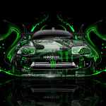 Monster Energy Toyota Supra Front Plastic Car 2014